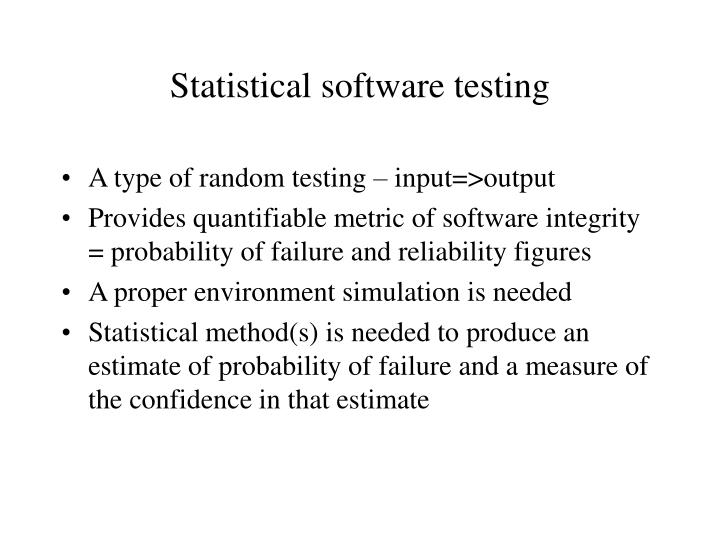 Statistical software testing