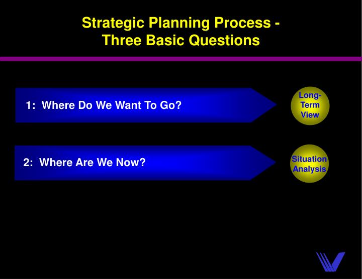 1:  Where Do We Want To Go?
