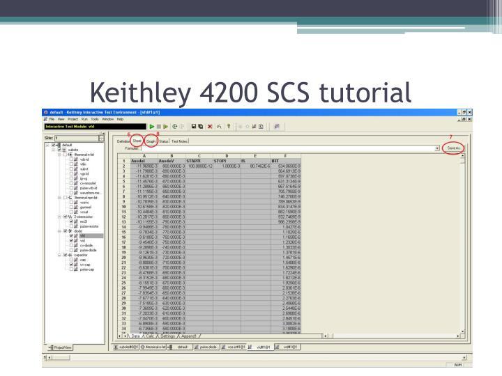 Keithley 4200 SCS tutorial