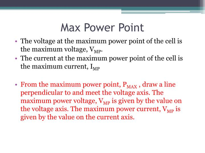 Max Power Point