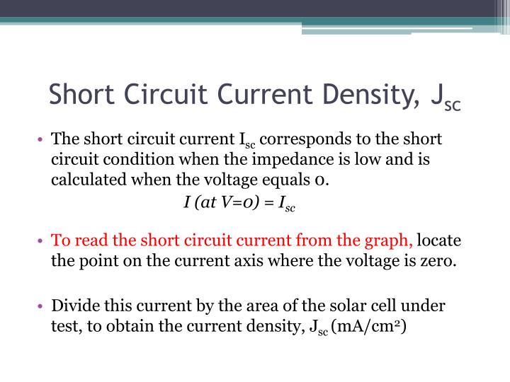 Short Circuit Current Density, J