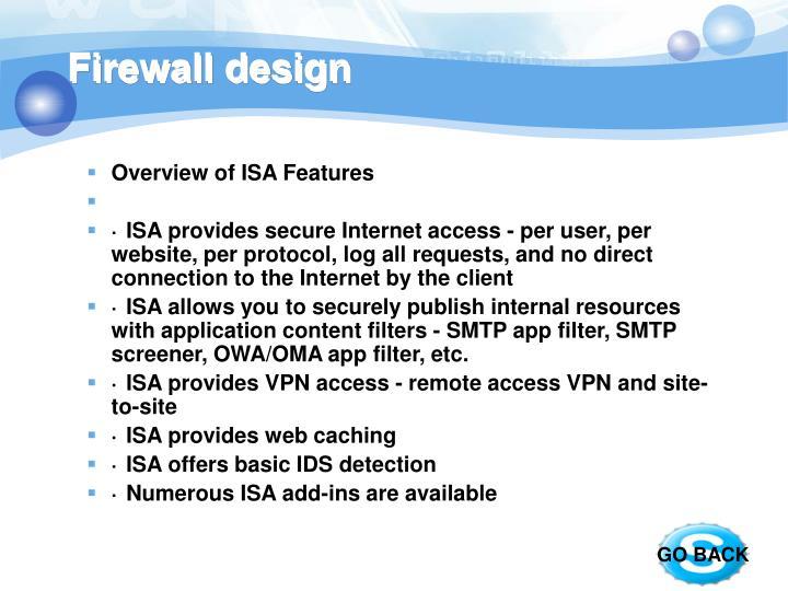 Firewall design