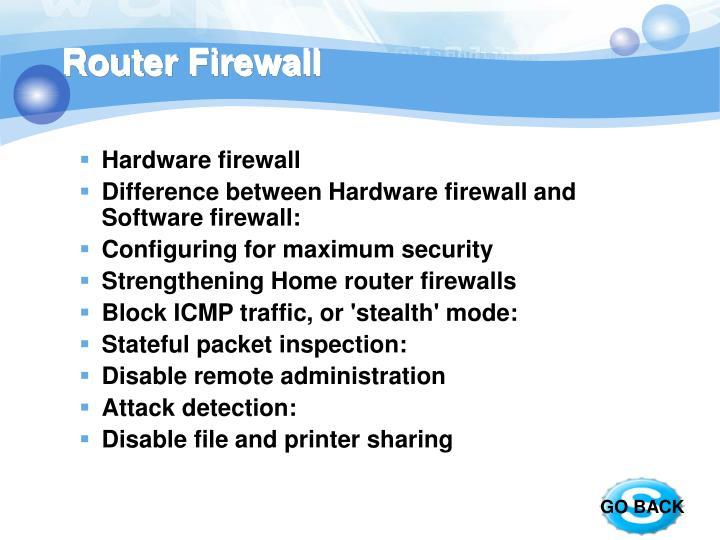 Router Firewall