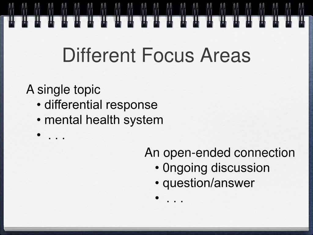 Different Focus Areas