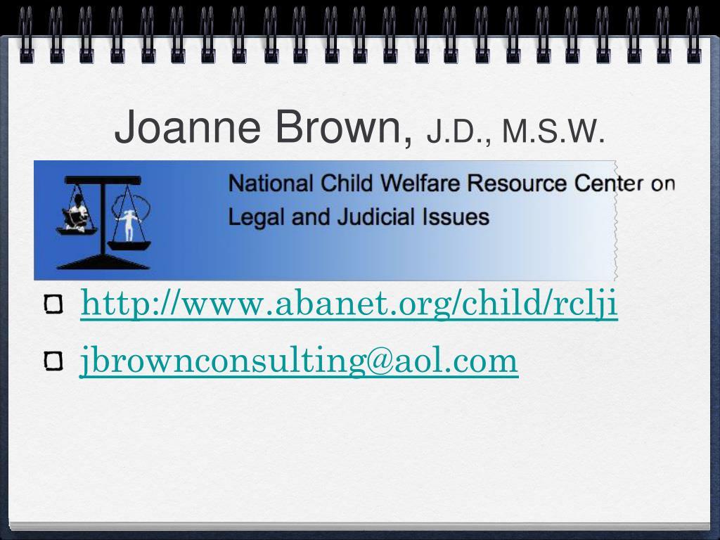 Joanne Brown,