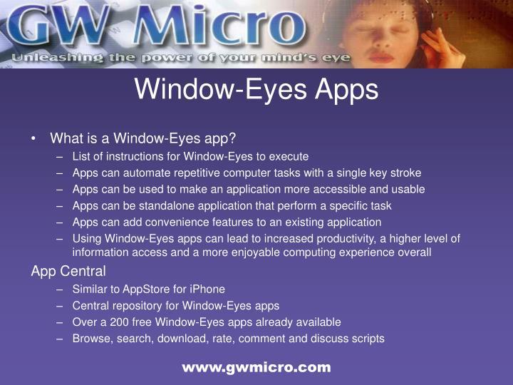 Window-Eyes Apps