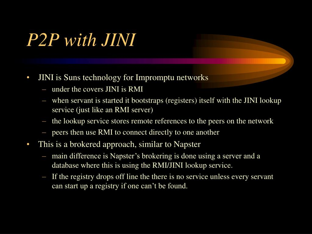 P2P with JINI