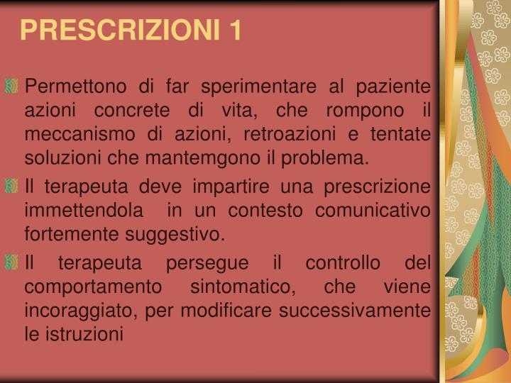 PRESCRIZIONI 1