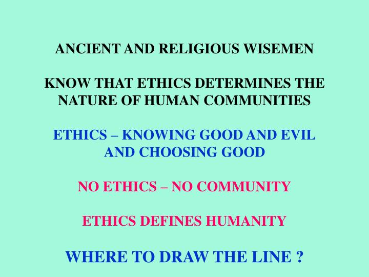 ANCIENT AND RELIGIOUS WISEMEN