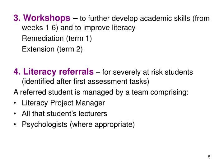 3. Workshops