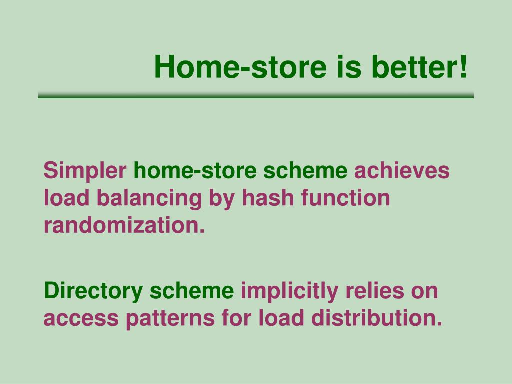 Home-store is better!