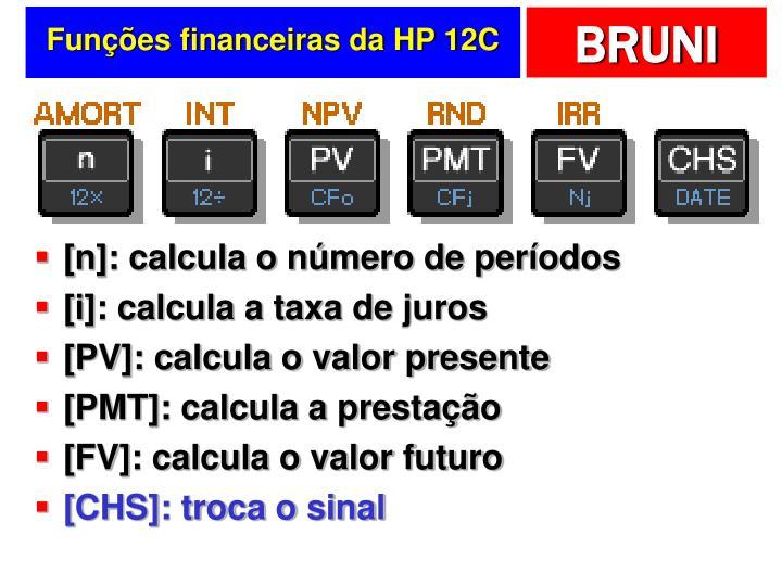 Funções financeiras da HP 12C