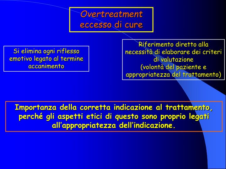 Overtreatment