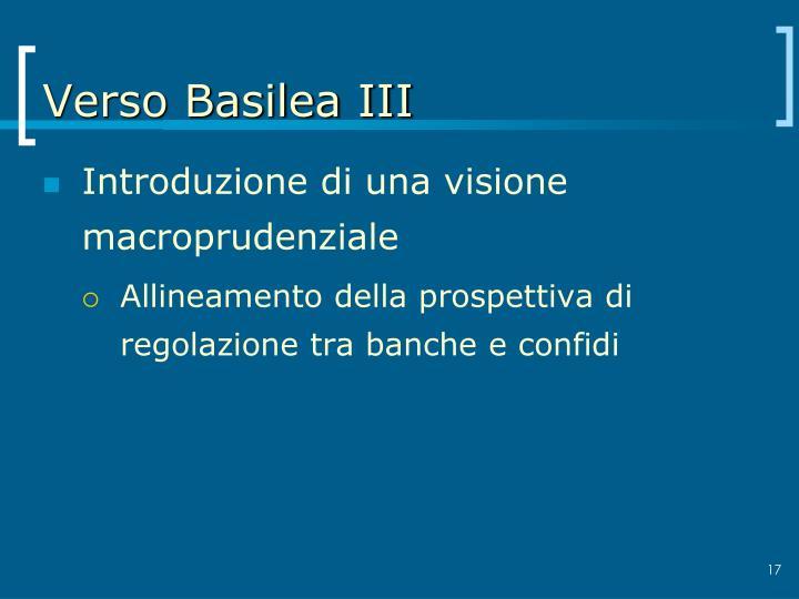 Verso Basilea III