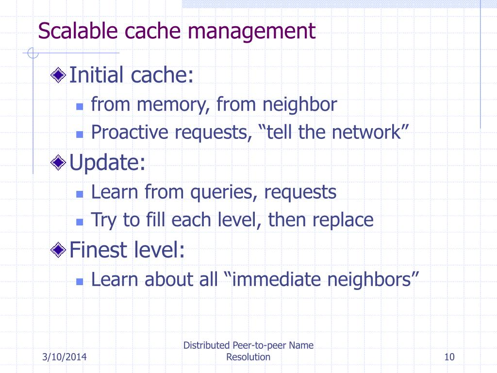 Scalable cache management