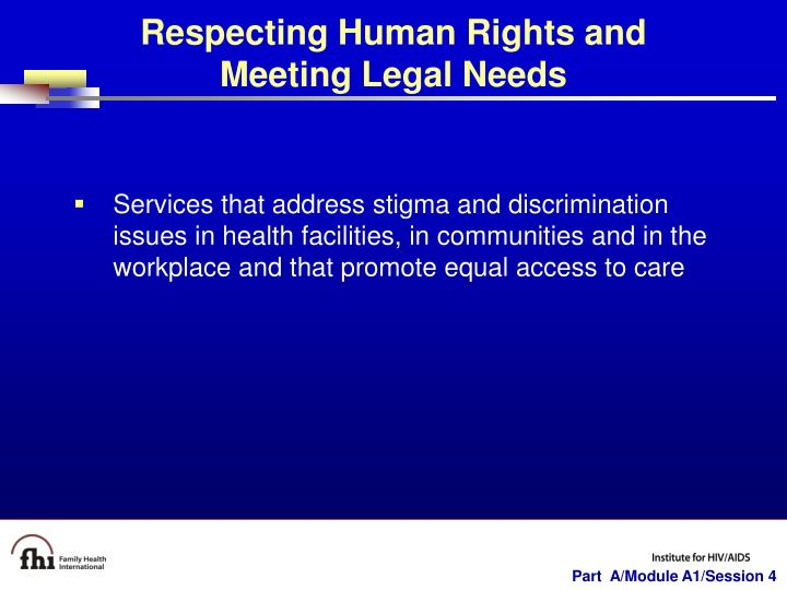 Respecting Human Rights and