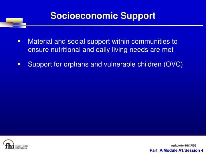 Socioeconomic Support
