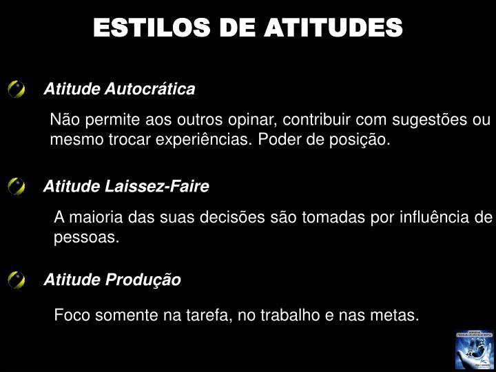 ESTILOS DE ATITUDES