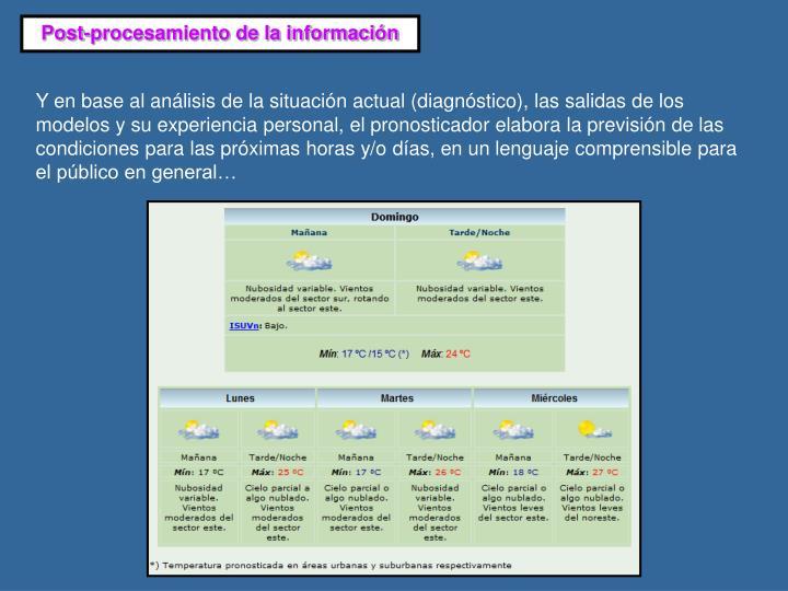 Post-procesamiento de la información