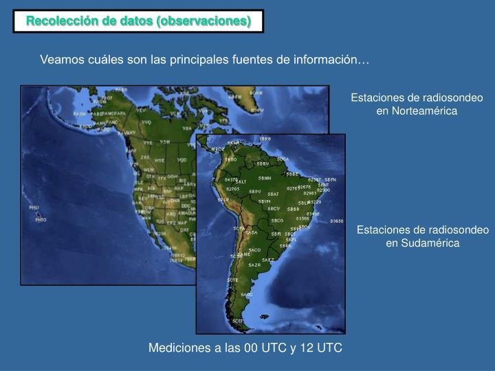 Recolección de datos (observaciones)