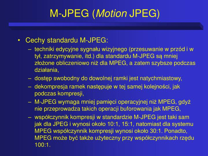 M-JPEG (