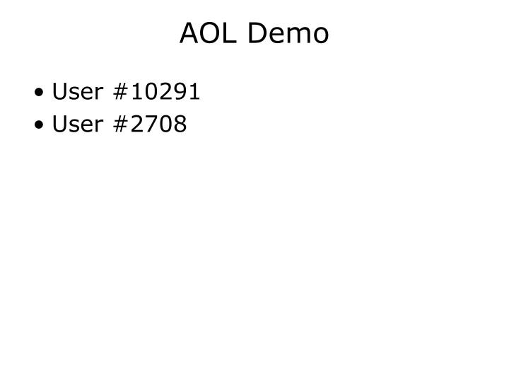 AOL Demo
