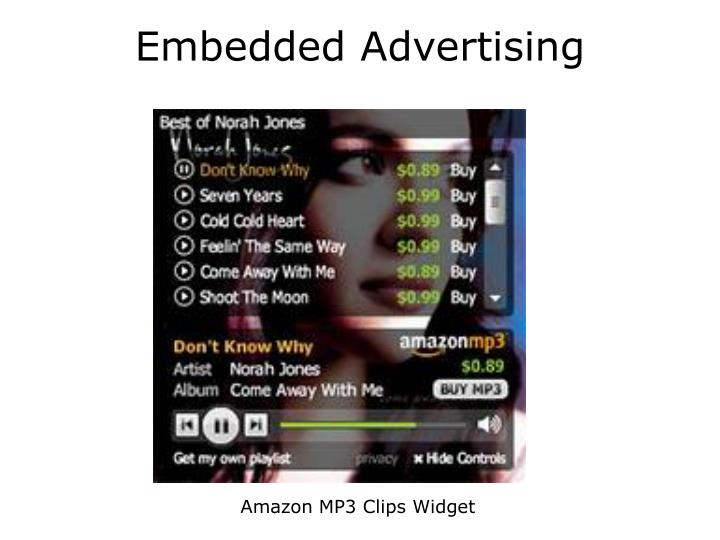 Embedded Advertising