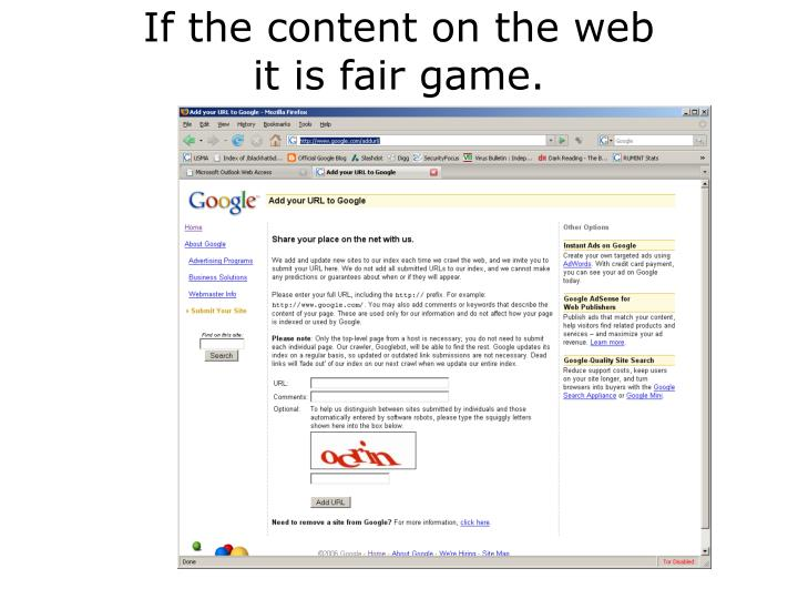 If the content on the web