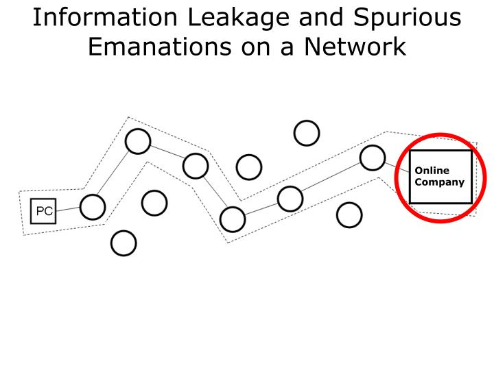 Information Leakage and Spurious Emanations on a Network