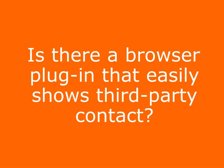 Is there a browser plug-in that easily shows third-party contact?