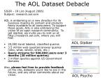 the aol dataset debacle1