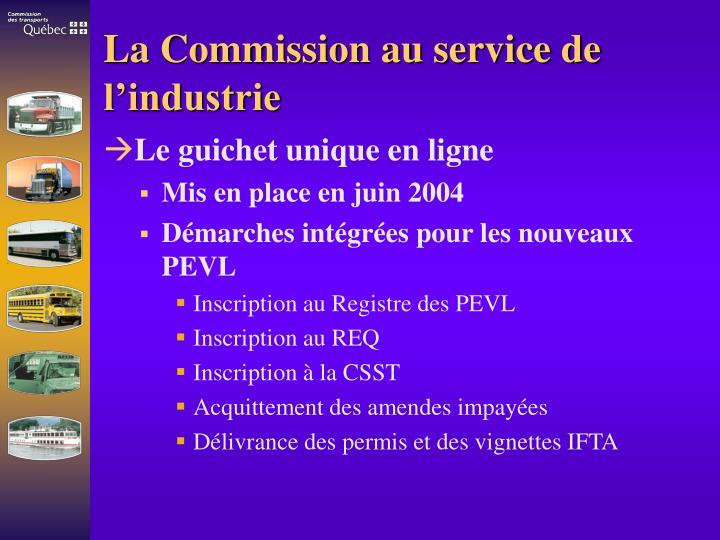 La Commission au service de l'industrie