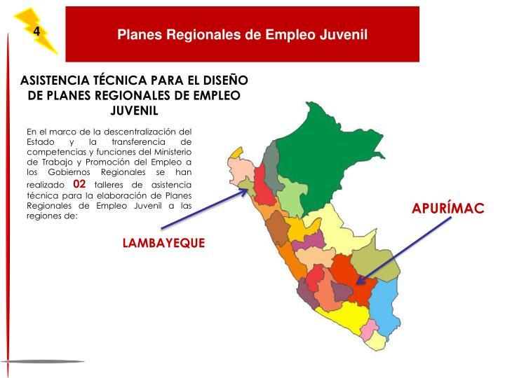Planes Regionales de Empleo Juvenil