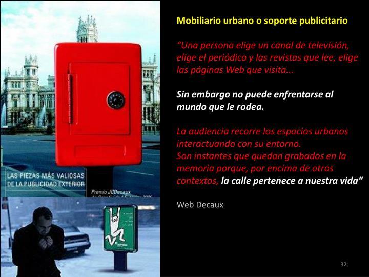 Mobiliario urbano o soporte publicitario