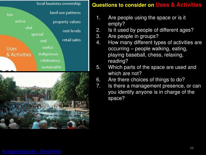 Questions to consider on