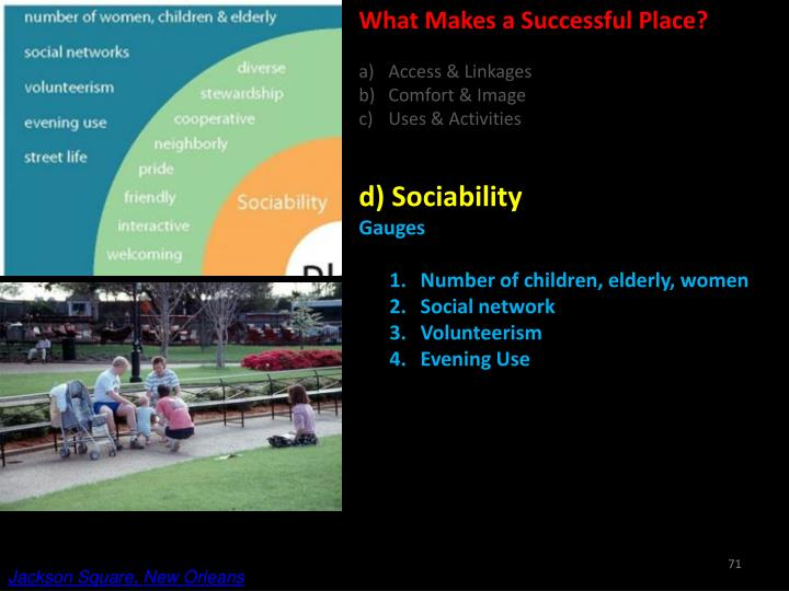 What Makes a Successful Place?