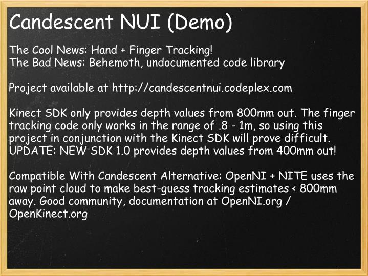 Candescent NUI (Demo)