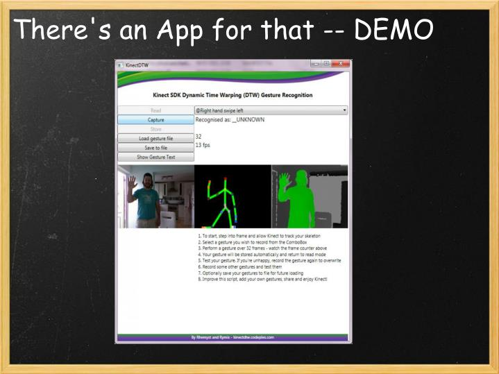 There's an App for that -- DEMO