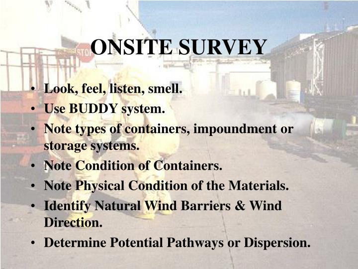 ONSITE SURVEY