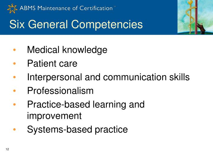 Six General Competencies