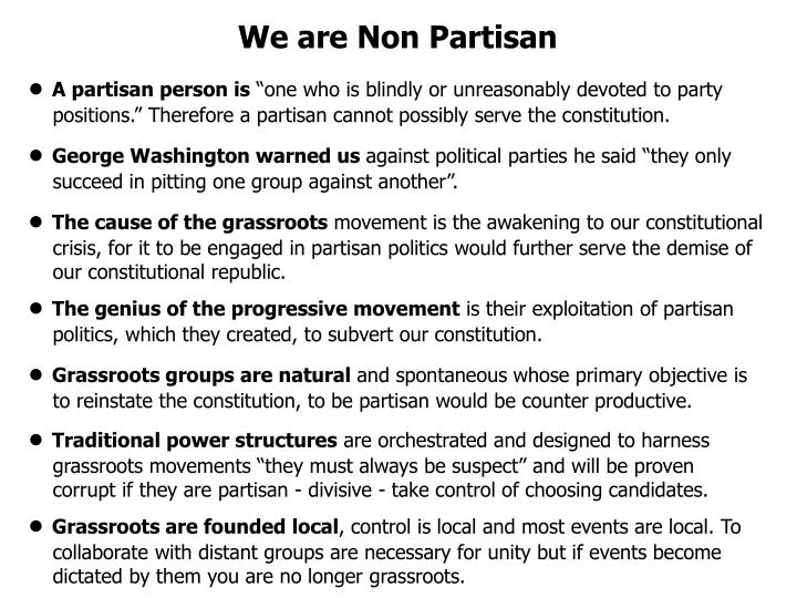 We are Non Partisan