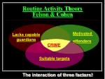 routine activity theory felson cohen