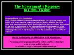the government s response to crime victims