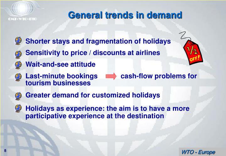 Shorter stays and fragmentation of holidays
