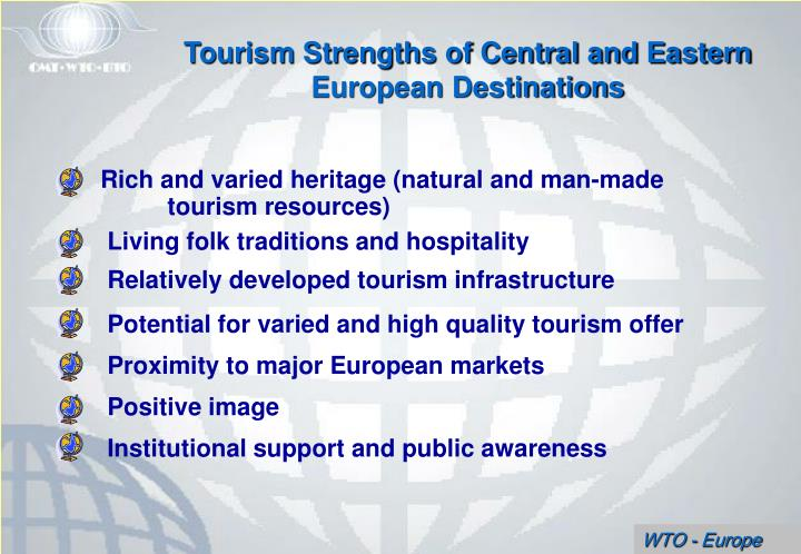 Tourism Strengths of Central and Eastern European Destinations