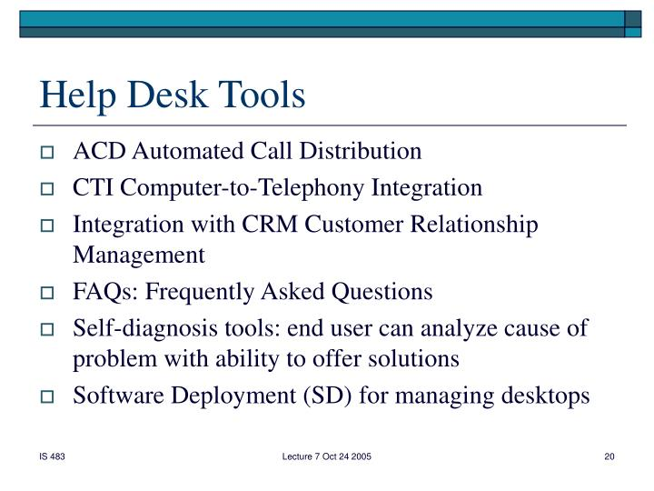Help Desk Tools