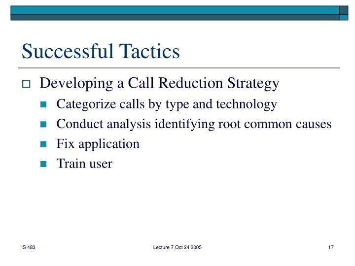 Successful Tactics