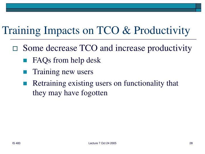 Training Impacts on TCO & Productivity