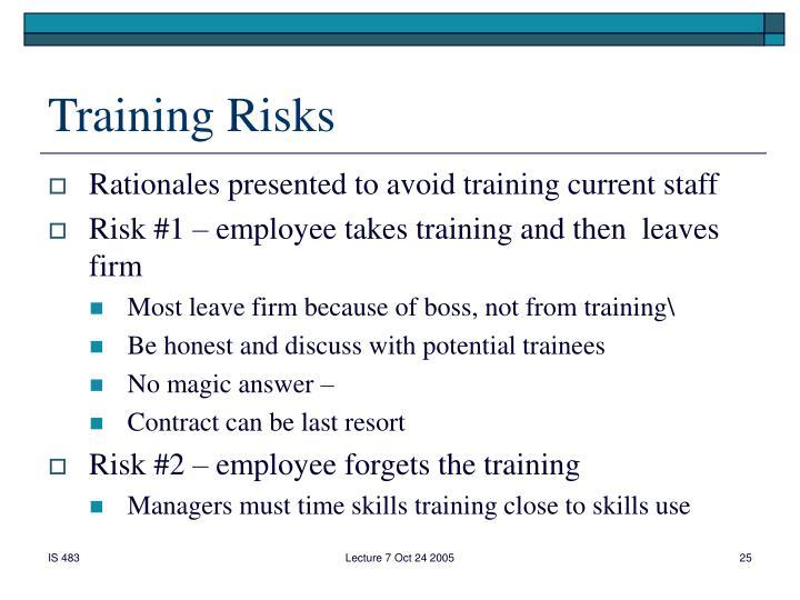 Training Risks