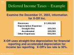 deferred income taxes example